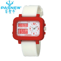 Men's Diving Waterproof analog Digital Outdoor Top Quality Brand Sports Watches 6 Color With PU Strap gift PSE7-342#