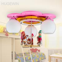 LED Children Ceiling Lamp Carton Light  for Children's room Pink color lovely light  for Child bedroom child lamp UHXD642