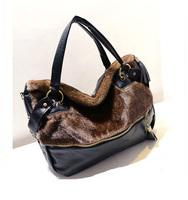 New Arrival 2014 High Quality Women PU Leather Messenger Bags Flow Suma hair decoration bags handbags women famous brands Hot