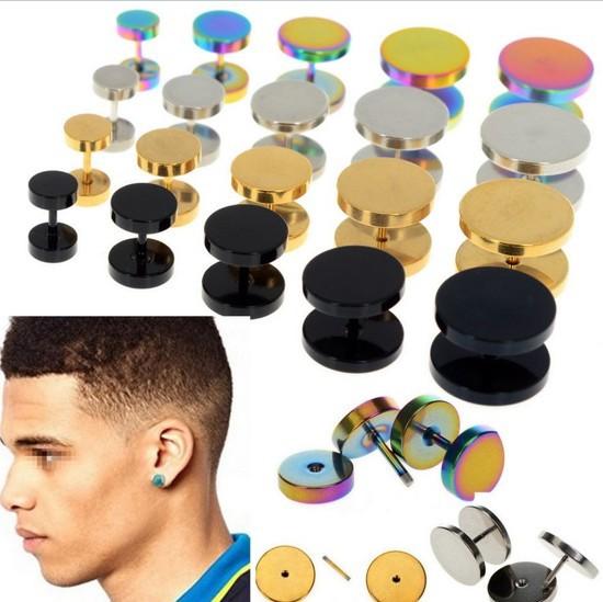 Fashion 6-14mm Jewelry 2X Stainless Steel Fake Cheater Ear Plugs Gauge Illusion Body Jewelry Pierceing(China (Mainland))