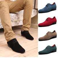 New 2013 Men's flats shoes genuine leather men Big size 39-45 Suede leather dress shoes casual oxford mens shoes