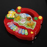 New Free Shipping Useful Popular Baby Kids Farm Animal Piano Music Developmental Educational Toy