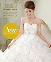 Organza Wedding dress, ball gown, princess style,floor length