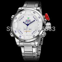Fashion Weide Men's Wrist Watch Quartz Analog Casual Business Style Watch Stain Steel Band