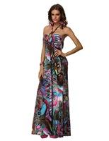 2014 Fashion sleeveless 3 colors Summer Dress long beach dress Womens Clubwear free shipping F4184