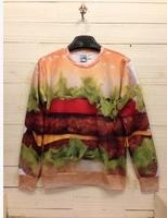 2014 men/women 3D  Long sleeve Galaxy hoodies Pullovers Hamburger 3D sweatshirts S/M/L/XL Free Shipping