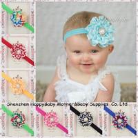 Hot Sale! Baby Chiffon Flower Headband Striped Design Girl Summer Hairband Toddler Kids Hair Accessory 10pc FreeShippingTS-14087