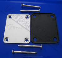 10set/lot High Quality Guitar Parts FD Chrome Neck Plate W/Screw For Fender Start Tele Screws Electric Guitar