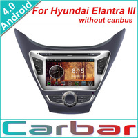 2014 Android 4.0 OS Car DVD GPS Player for Hyundai Elantra III without canbus Dual Core 1GHZ CPU 512MB DDR3 3G Wifi Russian Menu