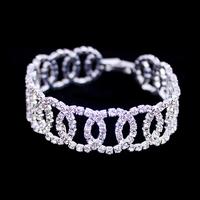 New Arrival European And American Fashion Jewelry,Shining Silver Bracelets,High Quality Hand Chain,Rhinestone Bracelet BG-18