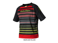 Hot sale! 2014 Troy Lee Designs Skyline lee Jersey MX DH Offroad Cycling Bike Sports TLD Short Jersey T-shirts RED/FLOW YELLOW