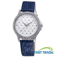 New Design Women Dress Watch Genuine Leather Strap Luxury Diamond Watch Quartz Movement Fashion Watch