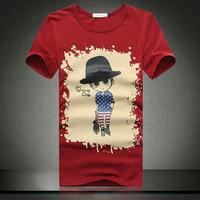 Free shipping 2014 new fashion mens cartoon plus size M-6xl t shirt
