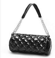 Leisure fashion bag chain embroider line handbag Han Guoling lattice han edition lady's bag[240195]