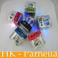 FM Radio TT028 Mini Speaker Portable Micro SD / TF Music MP3 Player Sound Box Lcd Screen 6Colors