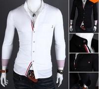 FREE SHIPPING,Men's Slim Luxury Stylish Casual Shirts New Mens Shirts Casual Slim Fit Stylish Mens Dress Shirts m003
