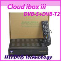 2pc Fedex free ship cloud ibox3 satellite receiver Linux OS hd twin tuner cloud ibox III DVB-S+T2/C Support OpenPLi Blackhole