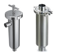 """2.0"""" SS304 Stainless steel sanitary angle type filter,Stainless steel sanitary filter,Straight through the filter,Pipe filter"""
