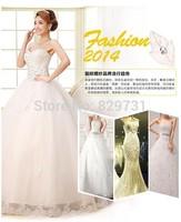 Grid yarn Luxury Wedding dress, ball gown, princess style,floor length