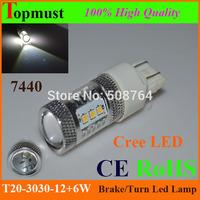 2pcs 7440 7443 30W CREE XBD 5W*6LED High Power Led cree Car Bulbs Vehicles Turn Signal Tail Brake Lights