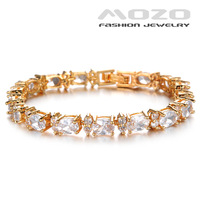 Wholesale New 2014 Fashion jewelry 18K gold-plated copper White Cubic Zirconia Women Bracelet famale Collocation Bangles TY419