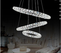 2014 Modern  Three Rings  LED crystal chandelier, pendant  lamp,Lighting fixture for home.Four sizes available,Free shipping.