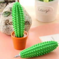 Spike ball-point Pen Cactus Pen / Funny Cactus Ballpoint Pen with Plant Pot
