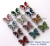 Mix Min Order $10 Mix Min Order $10 10pcs Mix Color Rhinestone Butterfly Floating Charms Fit Floating charms lockets FC204