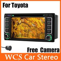 Car Head Unit For toyota series ,2din 800Mhz CPU Car DVD Player styling,support DVR car audio radio+Free Rear Camera 02