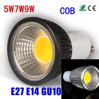 20pcs Energy Saving LED 5W 7W 9W Led Cob GU10 E27 E14 Soft Spotlight With Epistar Cob Lamp Housing Free Shipping