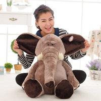 Creative Large wild elephants plush toys, children's toy plush lifelike elephants, girls birthday gift, Free Shipping 70cm