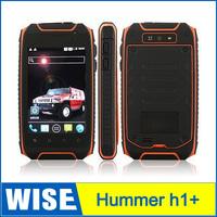 Original Hummer H1+ Waterproof 3.5 Inch 4GB ROM Shockproof Dustproof MTK6572A Dual Core multi language  GPS Phone IP67 free ship