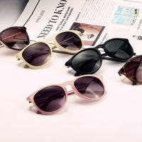 Free shipping 2014 New Fashion glasses Women men retro Fashion leopard print Sunglasses summer 5 colors glasses