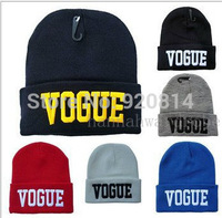 Vogue hot sale fashion popular beanie knitted hat winter thermal