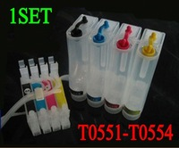 Free shipping  CISS T0551-0554ciss ink system  Continuous Ink Supply System for Epson Stylus Photo R240/RX400/RX405/RX520