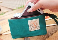 Stamp time leather case Change purse, coin purse, Receive bag B36074