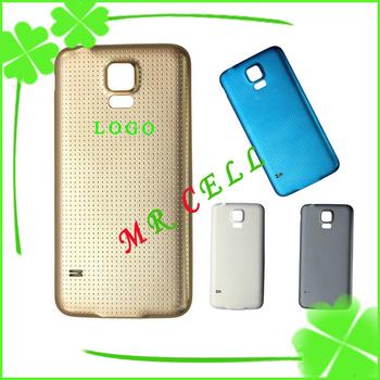 S5 100% крышка батарейного отсека для Samsung Galaxy S5 i9600 задняя дверь чехол жилья ультра тонкий с силиконовый слой бесплатная доставка