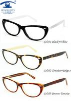 New 2014  Eyewear Accessories Hand Made Acetate Cat Eye Glasses Women Optical Fashion Glasses oculos de grau Women