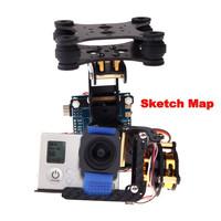 2-Axis 2D Carbon Fiber FPV Brushless Camera Gimbal with 2 Motors & Controller Board PTZ for Gopro Hero 3 DJI Phantom Qudcopter