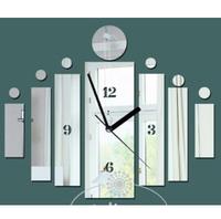 50sets/lot acrylic wall clock modern design luxury mirror wall clock,3d crystal mirror wall watches michael wall clocks