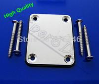 High Quality Guitar Parts FD Chrome Neck Plate W/Screw For Fender Start Tele Screws Electric Guitar