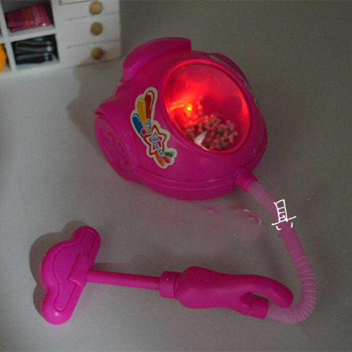 LED Flashing Kids Learning Education Toys Light Up Plastic Mini Vacuum Cleaner Toy Music Funny Sports Baby Classic Toy NEW 2014(China (Mainland))