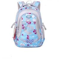 Free  shipping   new Flower child school bag in primary school students school bag male girls backpack ultra-light waterproof