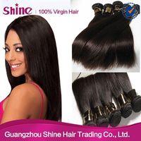 Free Shipping Full Cuticle Double Weft 100% Human Hair Extension 5A Brazilian Human Hair 3PCS/Lot
