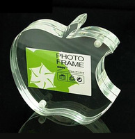 Apple shape acrylic photo frame picture frame