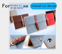 For Apple ipad mini protective sleeve / retro slim with sleep For ipad protective holster For ipadmini Business Bags