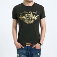 Free shipping 2014 new fashion slim cotton men tshirt