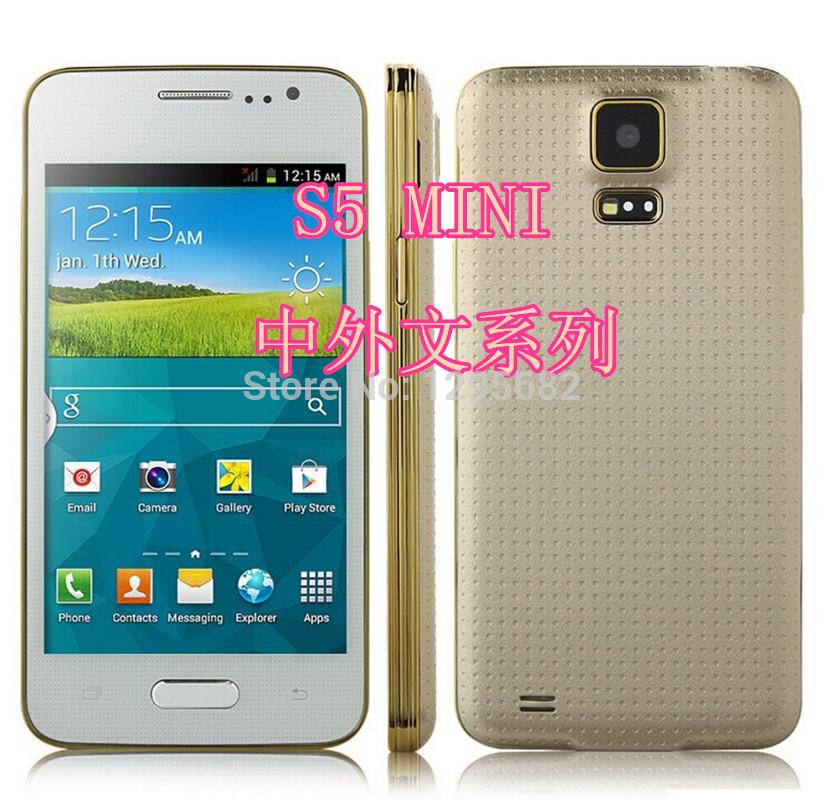Nouvelle marque originale téléphone mini 2014 s5 i9600 smartphone android 4.3 mtk6572a dual core 1.2 ghz 4g rom 3g dual sim de téléphone wifi