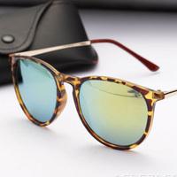 Free shipping 2014 New Fashion glasses Women men retro Color Focus Fashion leopard print Sunglasses summer 4 colors glasses