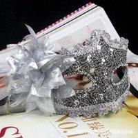 Silver Rhinestone Liles Venetian Mask Masquerade Halloween Costume